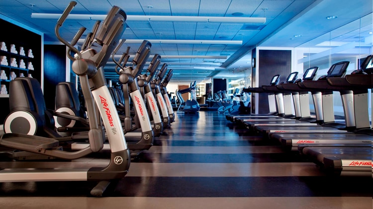 Fitness Room with Machines Image