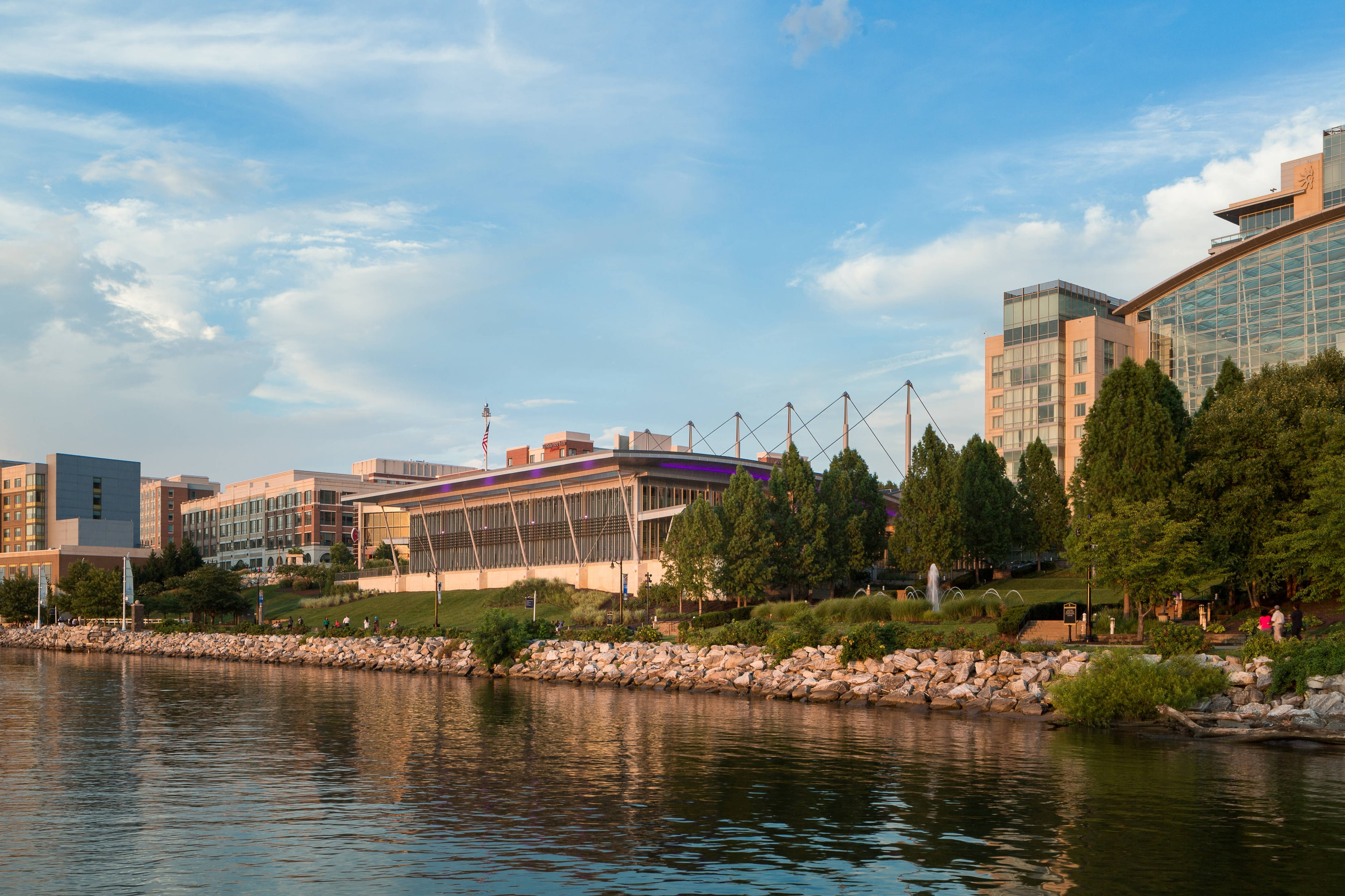 Exterior River View of Gaylord National