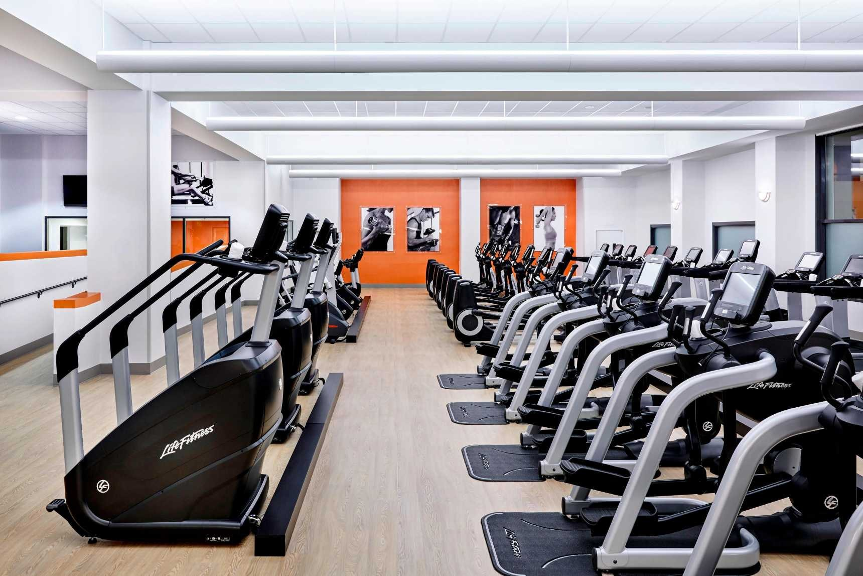 Ellipticals and Treadmills at the COR Health and Fitness center