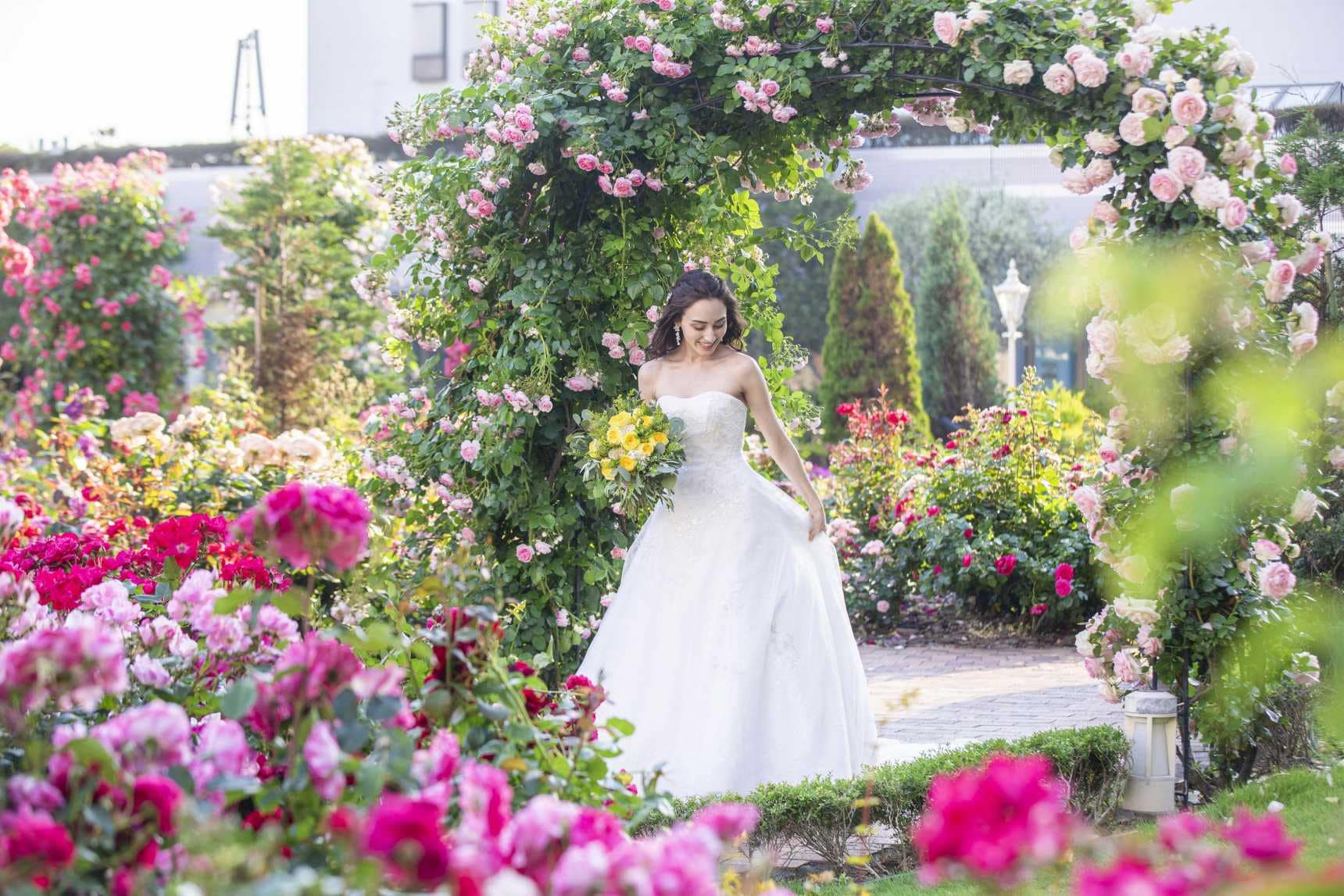 Bride in the Garden