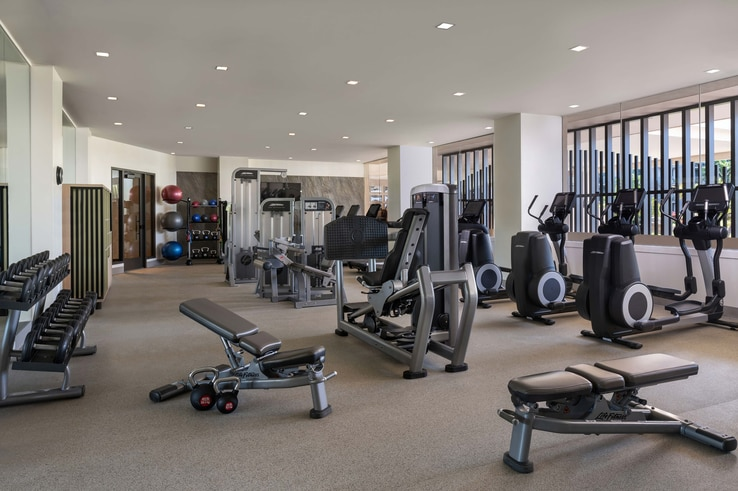 Cardio and resistance equipment inside the fitness studio.
