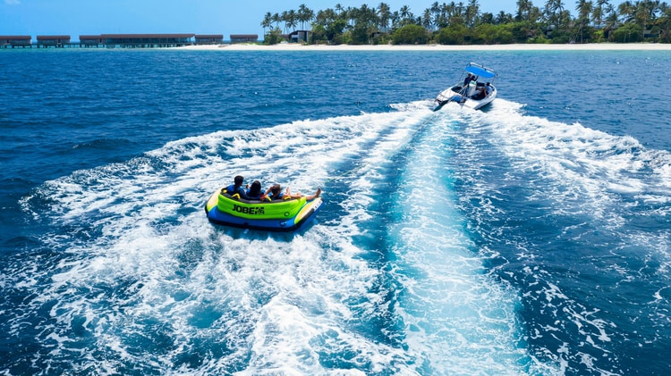 Tubing on the ocean view