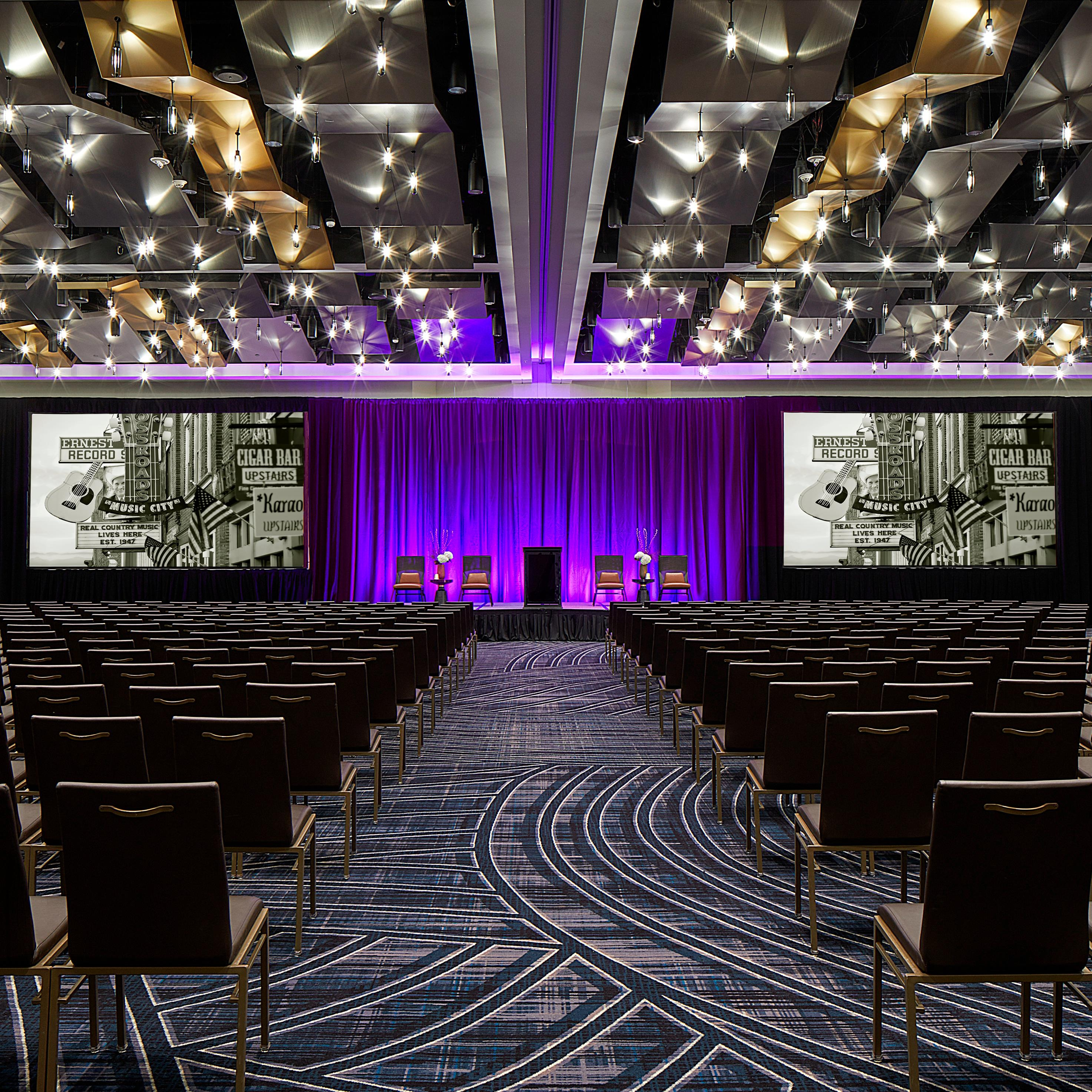 The newly renovated Grand Ballroom will spark inspiration with our state-of-the-art technology and event staff to assure every detail is perfect.