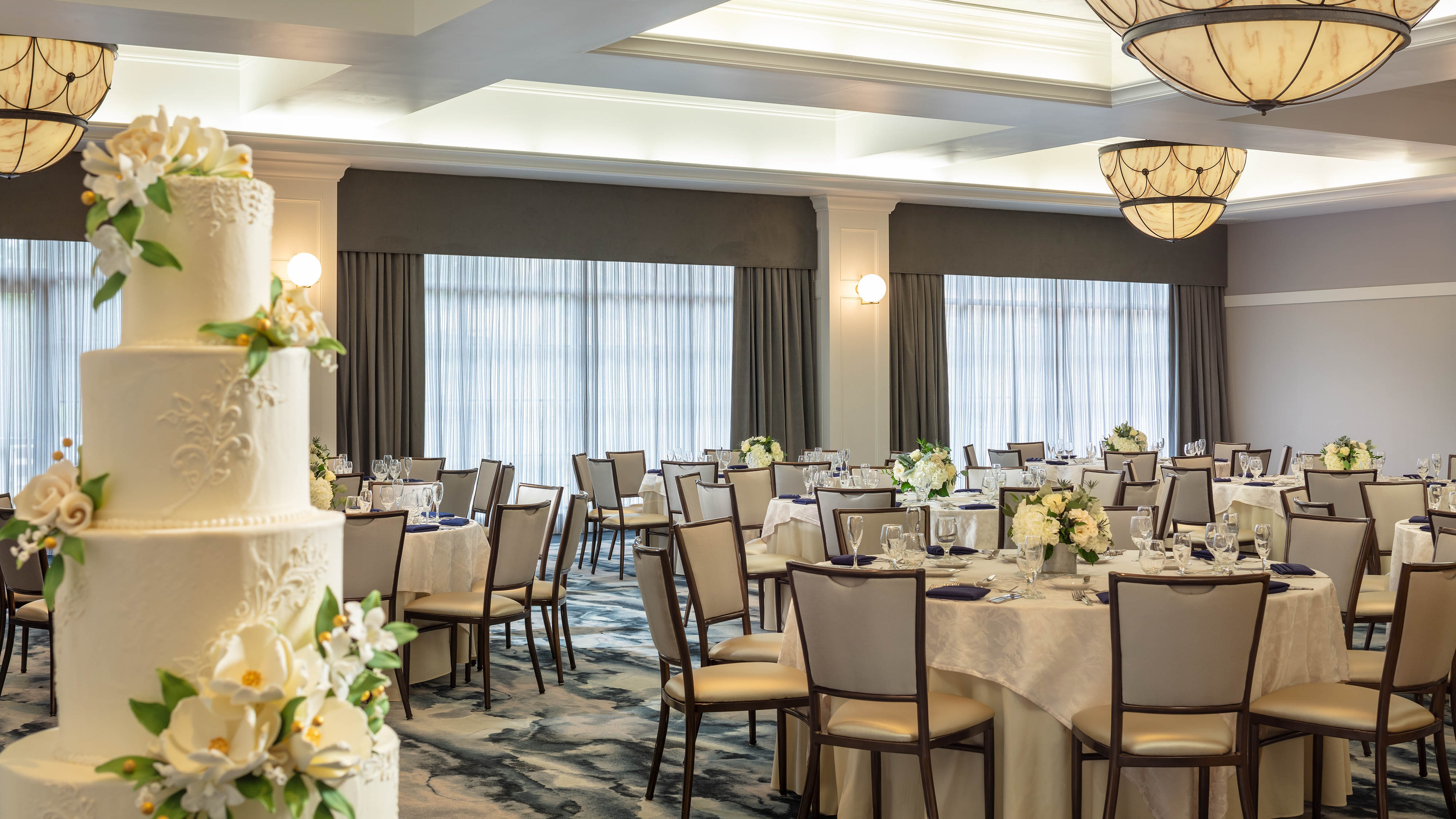 Our in-house event coordinators will ensure a flawless wedding that utilizes all of our offerings, from custom catering to audiovisual services.