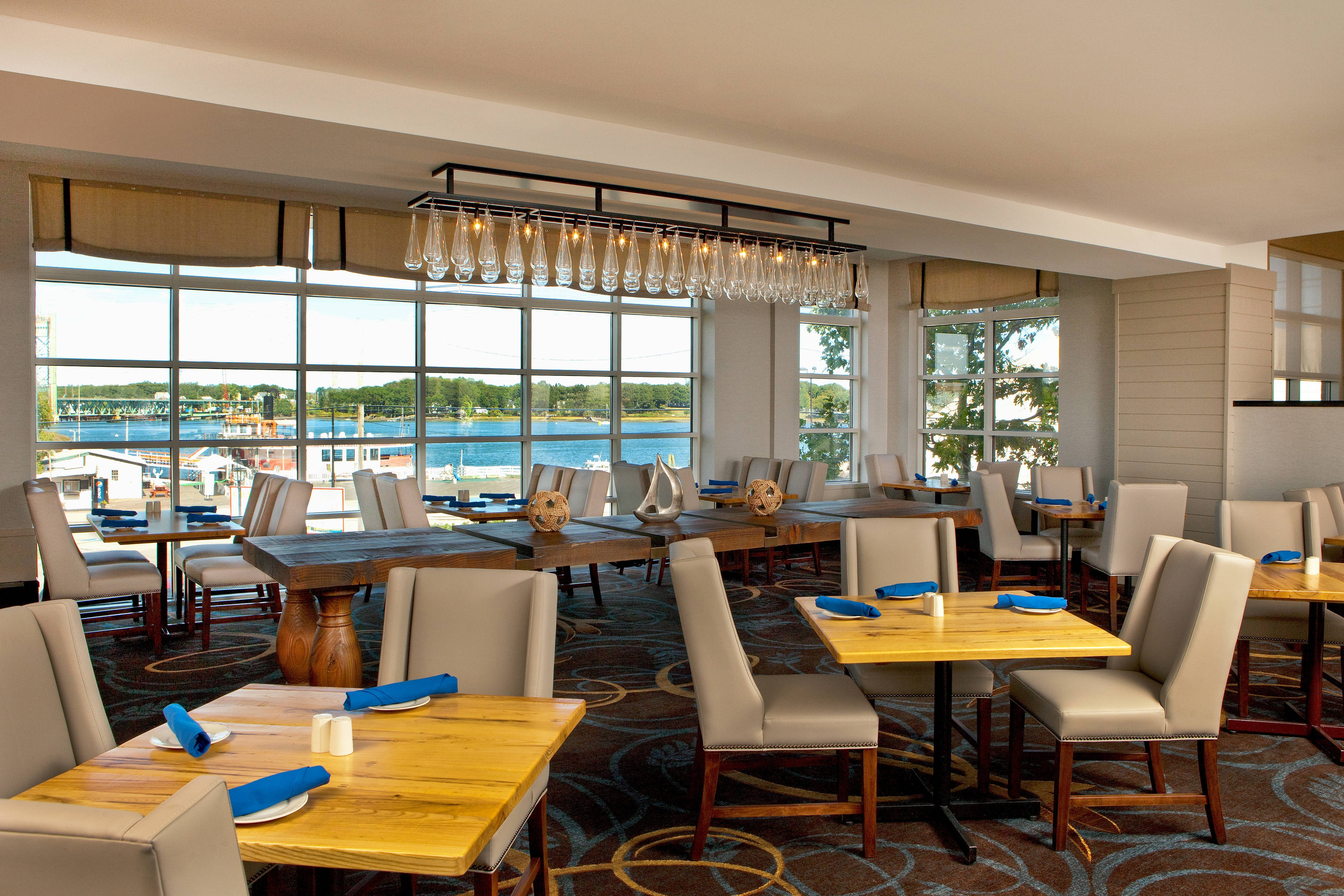 Two-Fifty Market is open for breakfast, lunch and dinner and offers stunning views of the Piscataqua River.