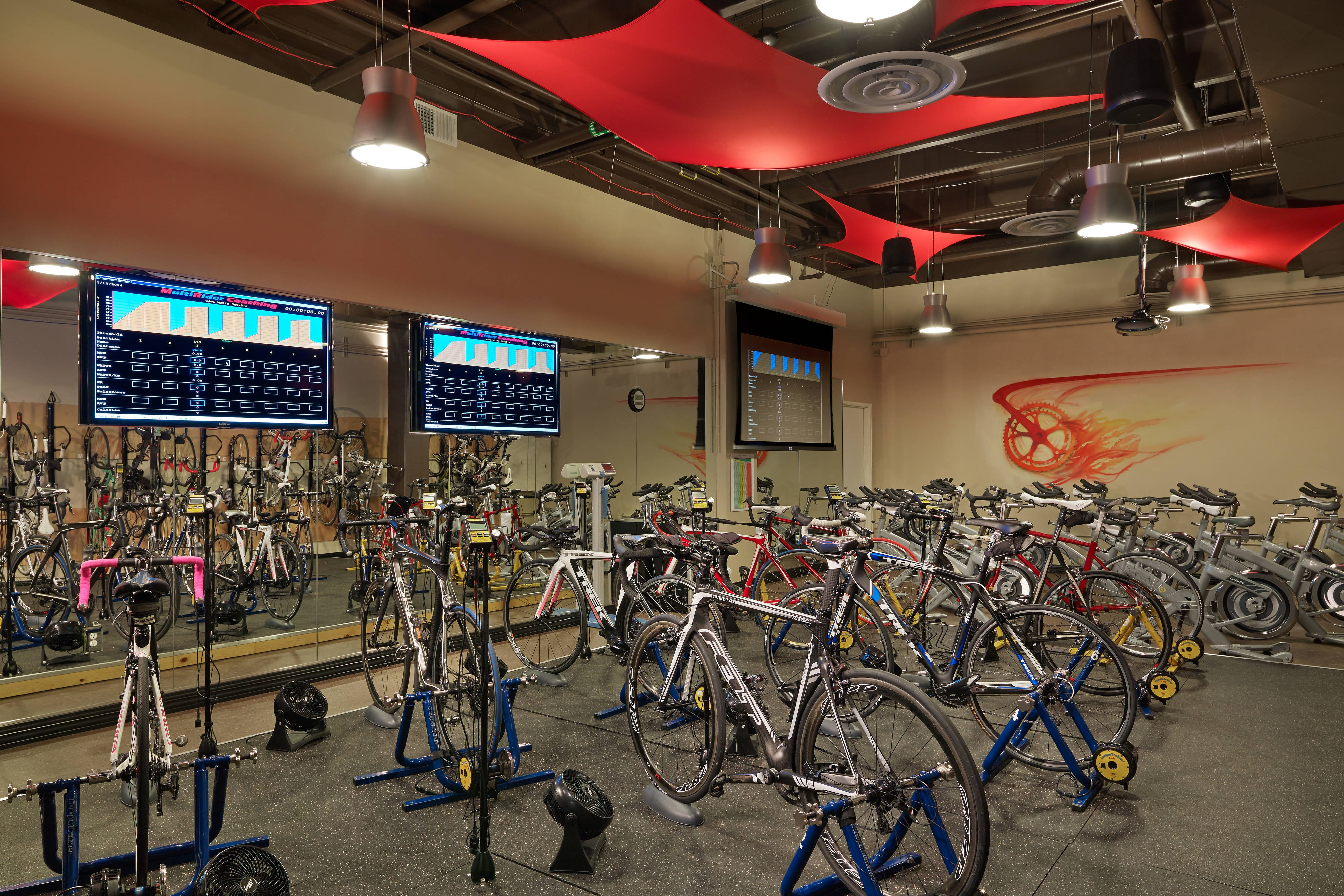 The Westin Riverfront Athletic Club Cycling Studio